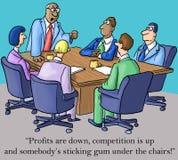 O chefe é feito sobre lucros e goma Fotos de Stock