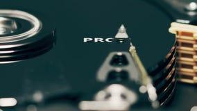 O chefe da unidade de disco rígido do computador revela a palavra PROGRAM video estoque