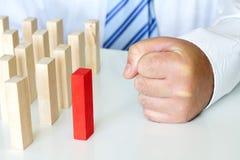 O chefe irritado mau e os problemas no trabalho abstraem o conceito do negócio Imagens de Stock Royalty Free