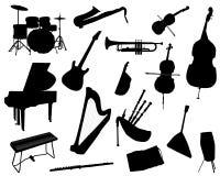 O chifre da música ajustou 3 ilustração royalty free