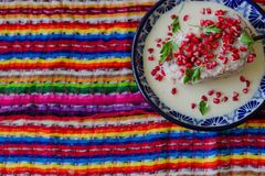 O Chile tradicional no poblano do nogada imagens de stock royalty free