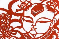 O chinês tradicional papel-cortou a arte imagem de stock