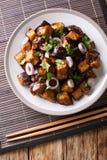 O chinês Yu Xiang Eggplant fritou no molho de soja com gengibre, alho fotografia de stock