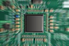 O chip de computador zumbiu Imagem de Stock Royalty Free