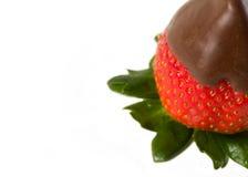 O chocolate cobriu morangos Imagens de Stock