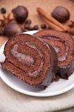O chocolate endurecer-rola imagem de stock
