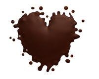 O chocolate heart Fotos de Stock Royalty Free
