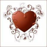 O chocolate heart Imagens de Stock Royalty Free