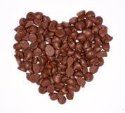 O chocolate heart Fotografia de Stock