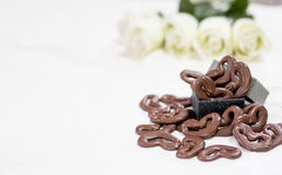 O chocolate heart Foto de Stock Royalty Free