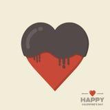 O chocolate heart Imagens de Stock