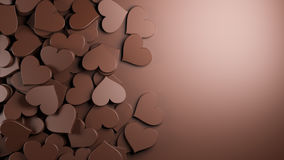 O chocolate heart Fotografia de Stock Royalty Free