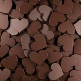 O chocolate heart Fotos de Stock Royalty Free