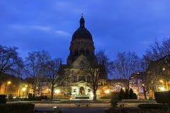 O Christuskirche em Mainz em Alemanha Foto de Stock Royalty Free