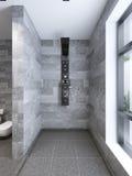 o chuveiro da Alto-tecnologia separa do banheiro Fotografia de Stock