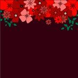 O chuveiro, o convite nupciais do casamento ou salvar o molde do cartão de data com rosas Ilustração Imagem de Stock