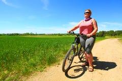 O ciclista imagens de stock