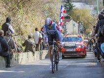 O ciclista Adam Hansen - 2016 Paris-agradável Imagens de Stock