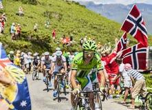 O ciclista Alan Marangoni Fotografia de Stock