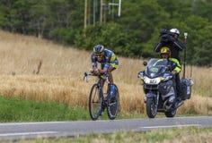 O ciclista Alberto Contador Foto de Stock Royalty Free