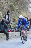 O ciclista Andrew Talansky - 2016 Paris-agradável Imagens de Stock