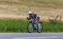 O ciclista Andy Schleck Fotos de Stock Royalty Free