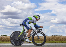 O ciclista australiano Simon Gerrans Fotos de Stock Royalty Free