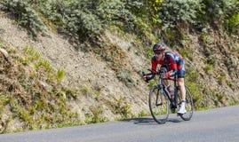O ciclista Brent Bookwalter Foto de Stock