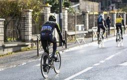 O ciclista Christopher Juul-Jensen - 2018 Paris-agradável imagens de stock