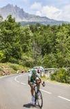 O ciclista Cyril Lemoine Imagem de Stock