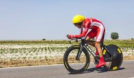 O ciclista Daniel Navarro Garcia Imagem de Stock