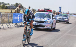 O ciclista David Lopez Garcia Imagens de Stock Royalty Free