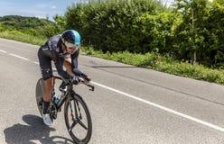 O ciclista David Lopez Garcia - Critério du Dauphine 2017 Imagens de Stock