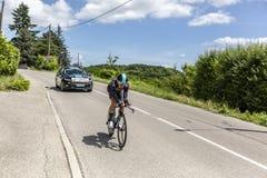 O ciclista David Lopez Garcia - Critério du Dauphine 2017 Imagem de Stock Royalty Free