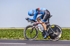 O ciclista David Millar Fotografia de Stock Royalty Free