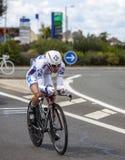 O ciclista francês Cedric Pineau Fotos de Stock Royalty Free