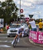 O ciclista francês Cyril Lemoine Foto de Stock Royalty Free