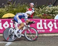 O ciclista francês Jimmy Engoulvent Fotografia de Stock Royalty Free