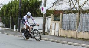 O ciclista Fumiyuki Beppu - 2016 Paris-agradável Fotos de Stock