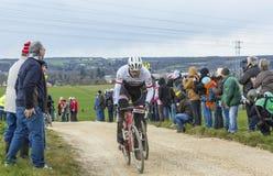 O ciclista Gregory Rast - 2016 Paris-agradável Imagem de Stock Royalty Free