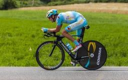 O ciclista Jakob Fuglsang Foto de Stock
