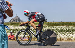 O ciclista Jens Voigt Imagens de Stock Royalty Free