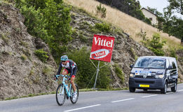 O ciclista Jens Voigt Foto de Stock Royalty Free