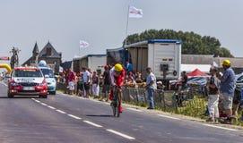 O ciclista Jerome Coppel Foto de Stock Royalty Free