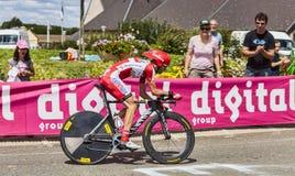 O ciclista Joan Horrach Fotografia de Stock