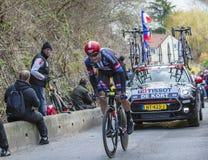 O ciclista Koen de Kort - 2016 Paris-agradável Imagens de Stock Royalty Free
