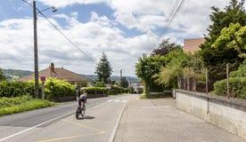 O ciclista Kristijan Durasek- Critério du Dauphine 2017 Foto de Stock