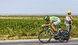 O ciclista Kristijan Koren Fotografia de Stock Royalty Free