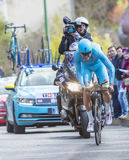 O ciclista Lars Boom - 2016 Paris-agradável Imagens de Stock