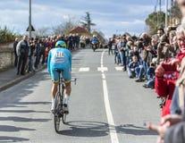 O ciclista Lieuwe Westra - 2016 Paris-agradável Foto de Stock Royalty Free